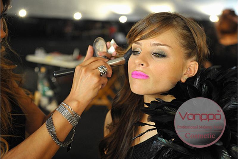 006 Professional-12-Pcs-Black-Makeup-Brushes-Set-Cosmetic-Brushes-Kit-with-Case-Free-Shipping- Wholesales