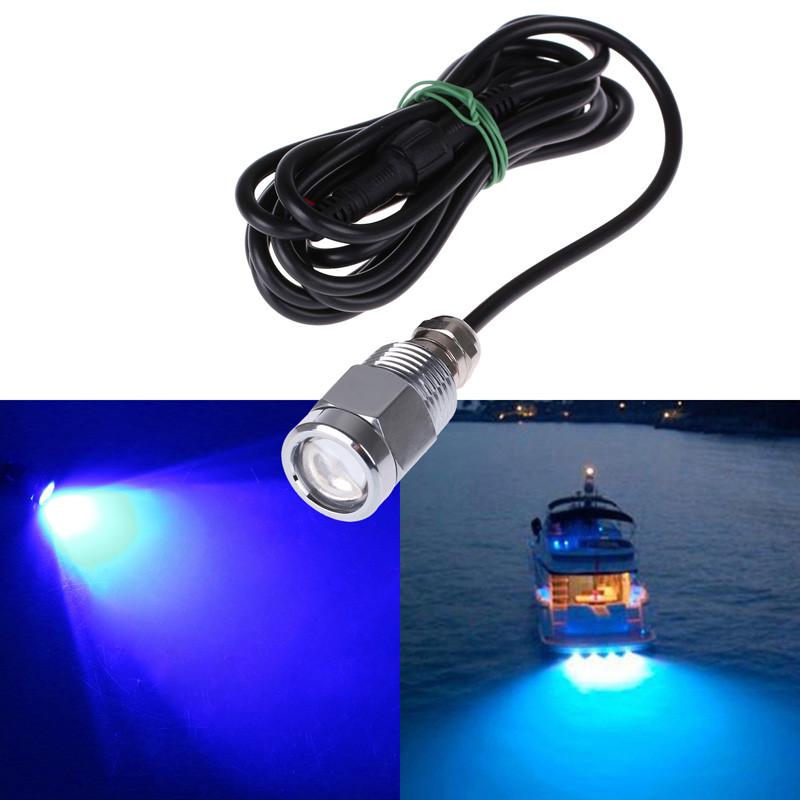 """Splendid 12V Blue LED Brass Drain Plug Light 1//2/"""" NPT For Marine Boat Underwater"""