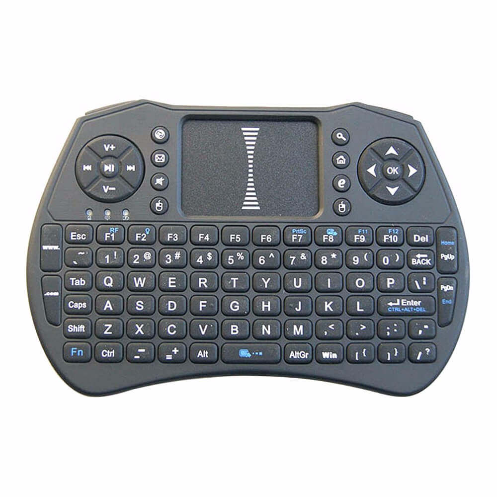 Calvas T6 air mouse mini keyboard touchpad backlight 2.4G sky backlit wireless Remote control similar MX3 for android tvbox laptop PC Color: T6 Back light 7color