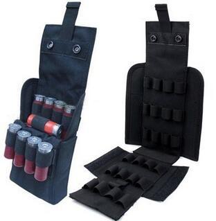 Noir GES Fusil tactique Fusil de chasse Buttstock Support de coquille Support de pochette de poche Ammo Cartridge Stockage de porteur