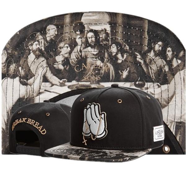 Cayler & Sons BREAK BREAD god pray Snapback classic mens & women designer adjustable caps gorras bones embroidered hiphop baseball hats