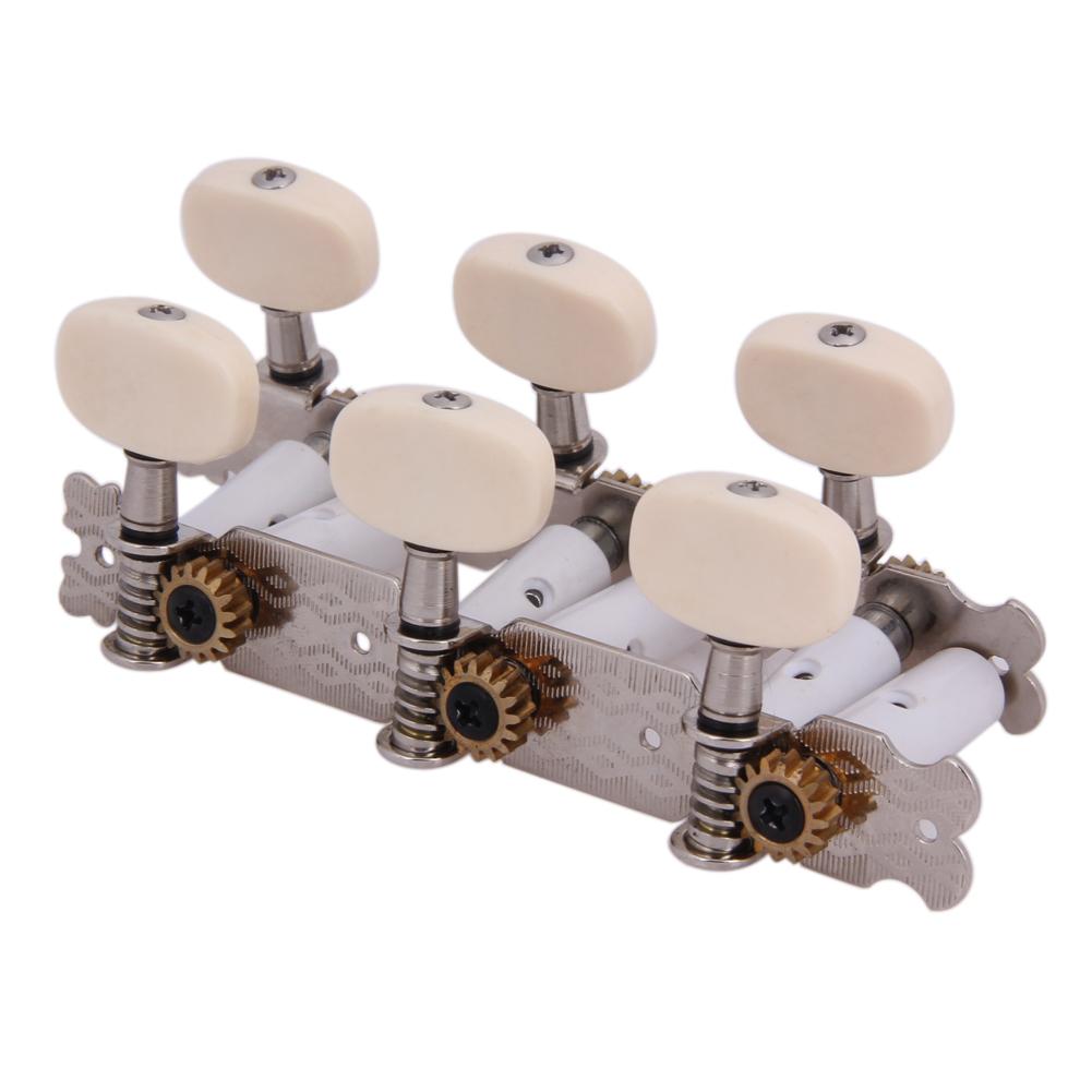 6 Stück Mechaniken Knöpfe Saiten Stimmwirbel Stimmgerät für Gitarre