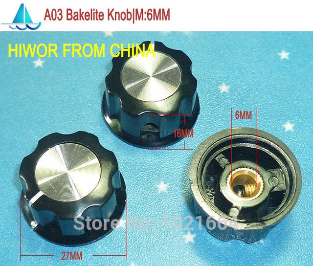 Controllo del volume manopola rotante in plastica 6mm per potenziometro ad alta 17mm Sound SWITCH