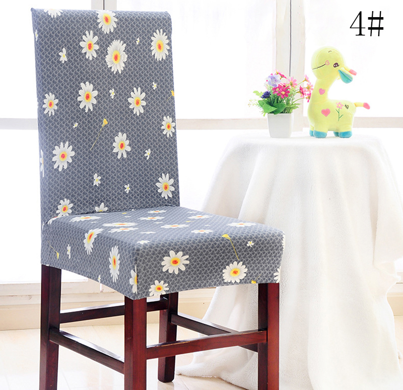 Chair Cover,Removable Washable Elastic Stretch Slipcovers Short Dining Room Chair Seat Cover Protector Seat Slipcover