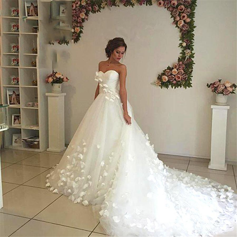 Erstaunlich Traumhochzeit Kleid-Schmetterlings-ultra-lange Zug-Frauen  Hochzeit formale Kleider Romantic Chic Brautkleid Vestidos De Noiva