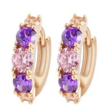 Boucles d`Oreilles Dormeuses Mini Perle Violet Rétro Vintage Vente En Gros G2