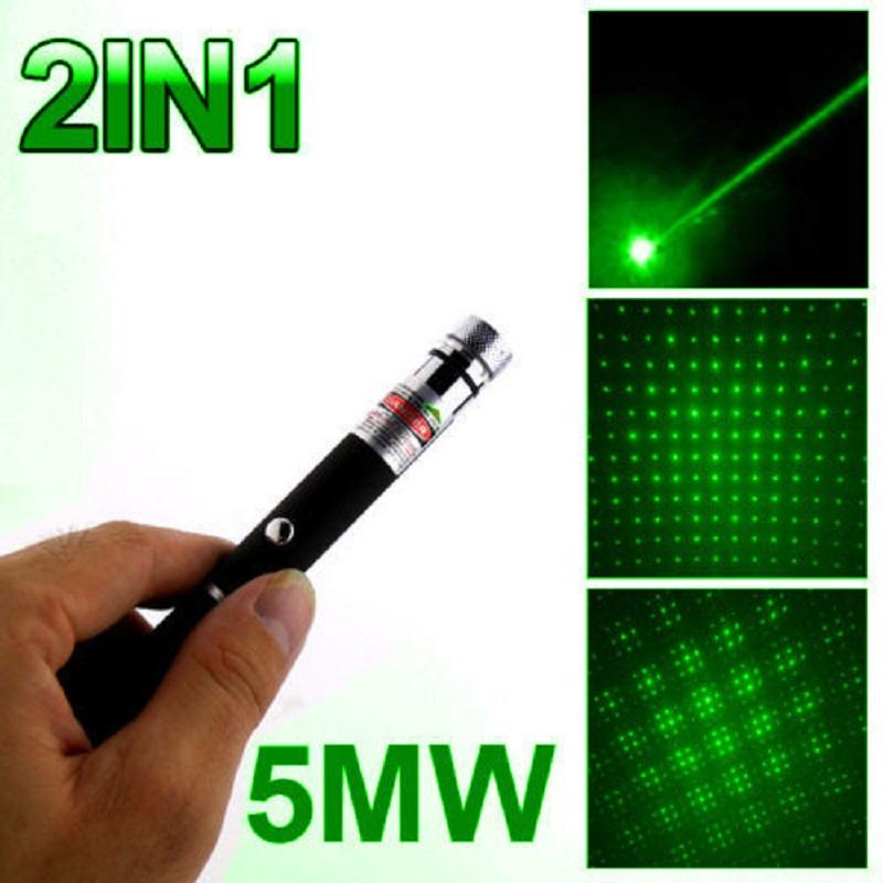 10Mile Powerful Laser Pointer+Star Cap 5mw 532nm Lazer Pen Light Beam Foucs Zoom
