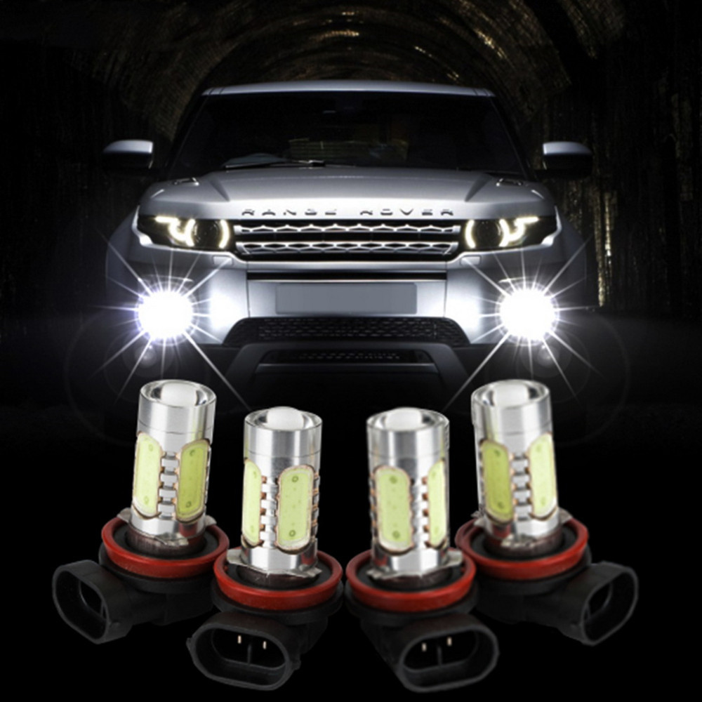 2X H1 Xenon Blanco 6000K 7.5W COB LED SMD DRL Conducción Niebla Bombillas Luces de cabeza de haz