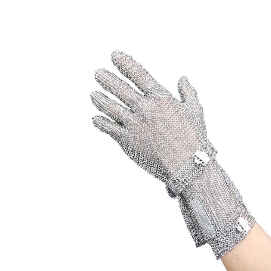 8CM Safety Cut-proof Gloves Stainless Steel Wire Durable Glove Butcher Metal Mesh Anti-piercing Metal Gloves,