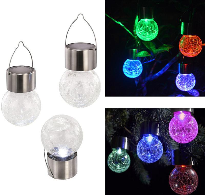 LED Hanging Licht Solar Angetriebene Hängende Kugel Ball Bodenbeleuchtung 2019