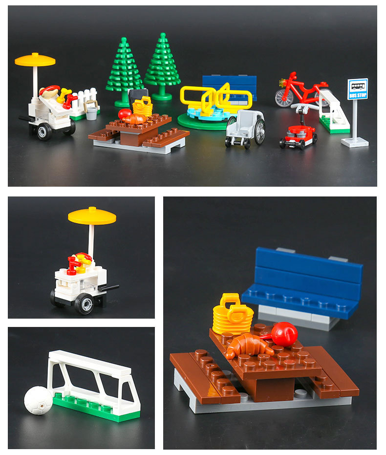 Lepin 60134 City Town Fun In The Park People Pack Construction Set ...