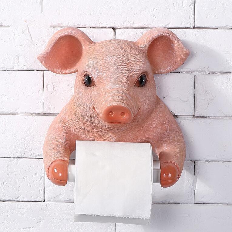 fish Cartoon Pig Papier Serviette Bo/îte Tissu Bo/îte de Bureau Porte-Papier en Forme de Rouleau Animal Couverture de Stockage Organisateur Box