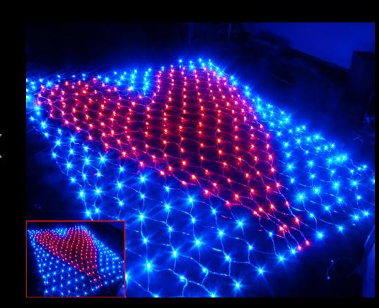 2M*2M 342LED heart-shaped net lights flash lights outdoor waterproof birthday confession heart-shaped heart lights