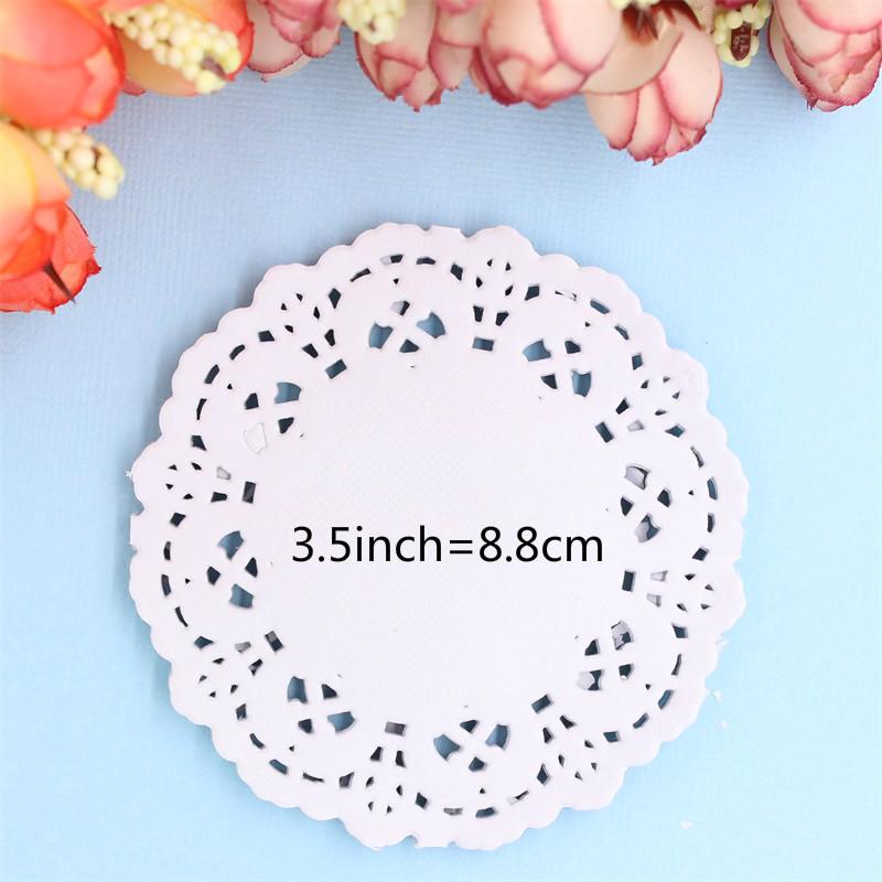 """20pcs 4.5/""""//11cm Flower Round Circle Lace Doilies paper Party craft Scrapbooking"""