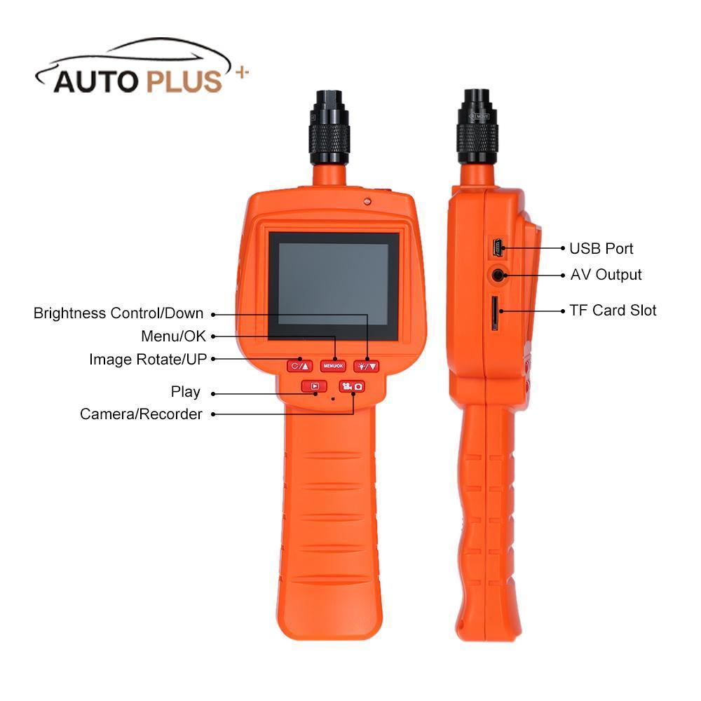 Kkmoon Car 3 9mm Portable Inspection Camera Endoscope Borescope 2 4 Screen  Dvr Video Recorder Waterproof Av Out Tf Automotive Diagnostic Tools
