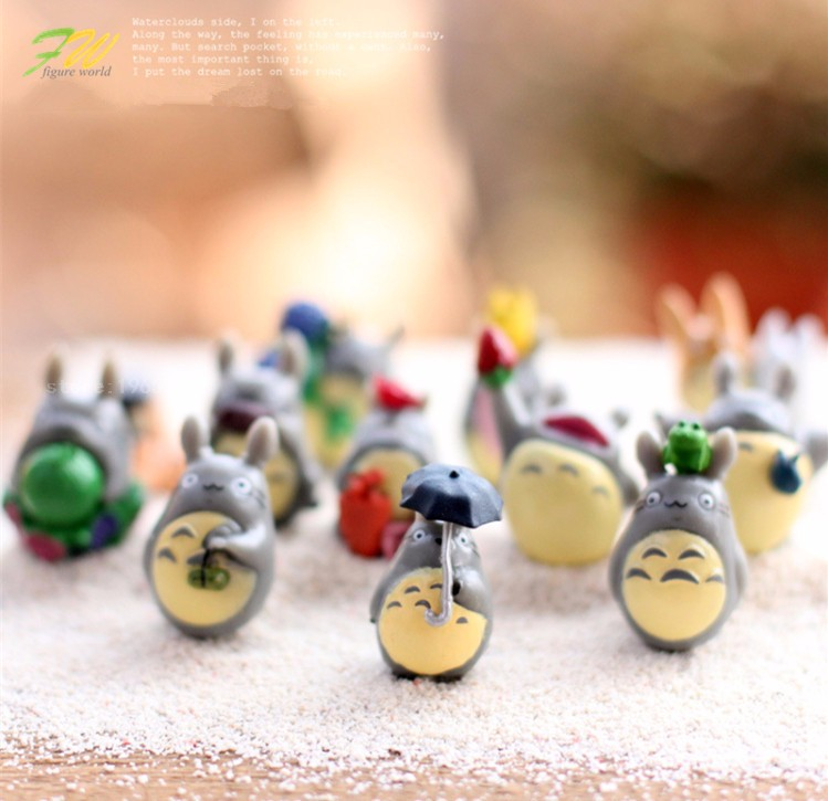 Cartoon My Neighbor Totoro Mei DIY Resin Fairy Craft Miniature Japanese Cute Anime Micro Gnome Terrarium Figures Gift Toy