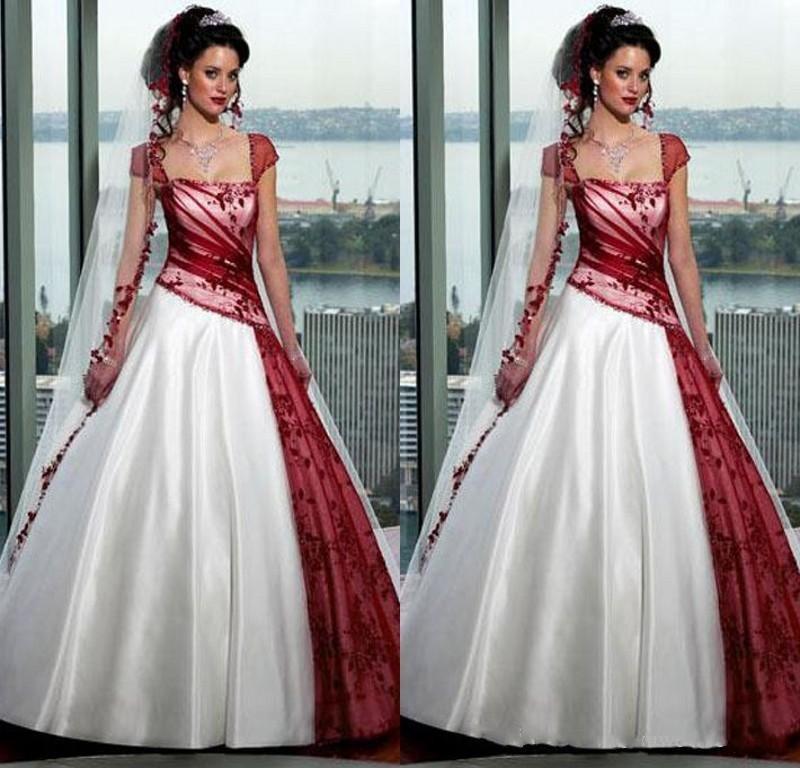 Vestiti Da Sposa Rossi E Bianchi.Sconto Abiti Da Sposa Piu Dimensioni Rosso Bianco 2020 Abiti Da