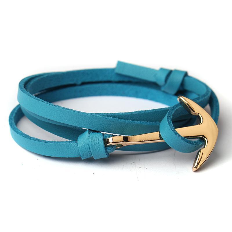 Beliebte Verankerte Braclet Leder Verankerte Hand Kette Geschwindigkeit Verkauf Mode Hand Seil WomenMen Freundschaft Armbänder Hohe Qualität