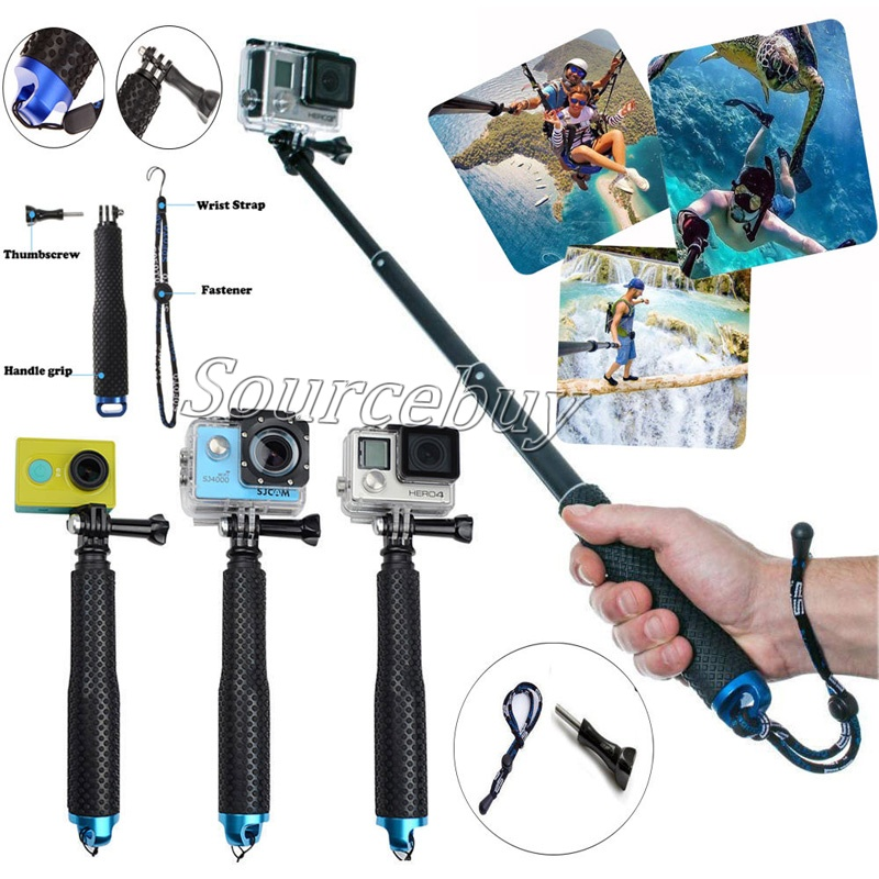 Carry Bag Set for GoPro NEW HERO // HERO7 //6 //5 //5 Session //4 Session //4 //3+ //3 //2 //1 Xiaoyi and Other Action Cameras Dura Selfie Monopod Wrist Belt Head Strap 7 in 1 Chest Belt Tripod Mount