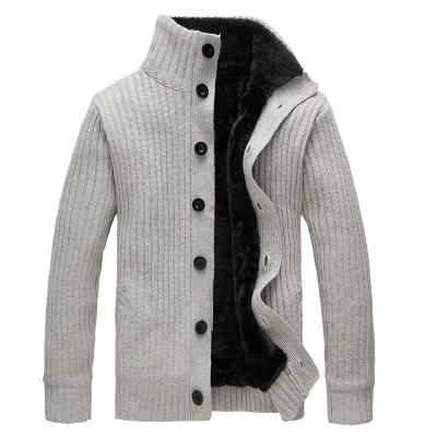Homme Hiver Casual laine Pull Pullover chaud Knitwear épaissir manteau Zipper Tops