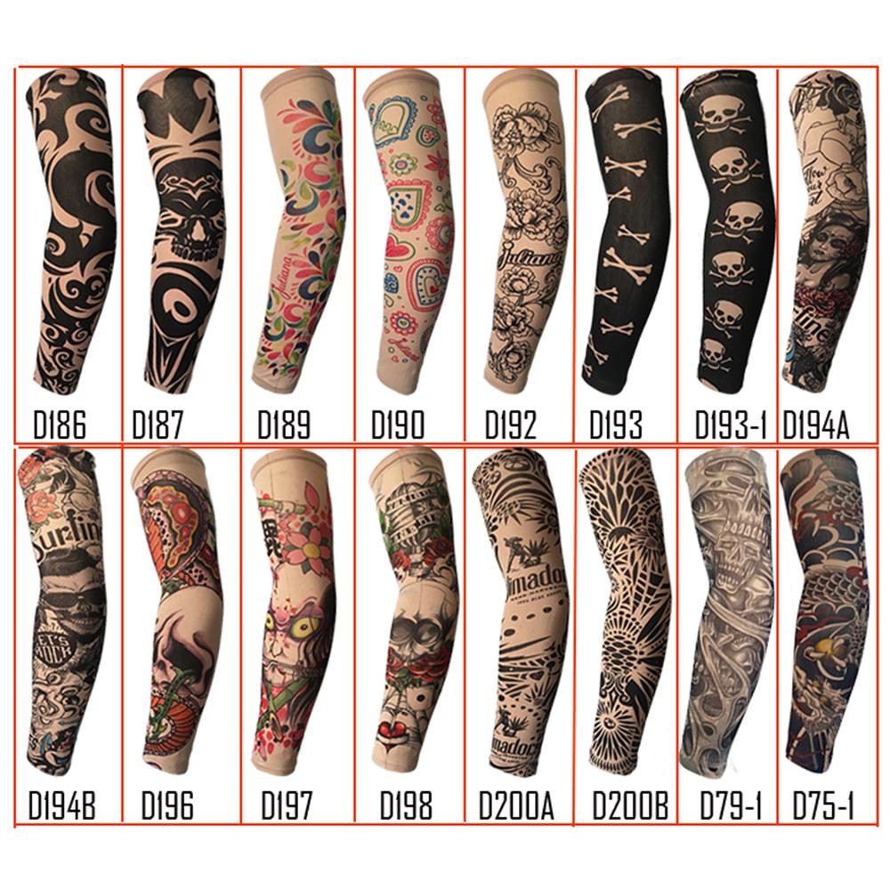 Tattoo Ärmel temporäre Strümpfe Tätowierung Arm Stulpen Strumpf Cosplay Kit best