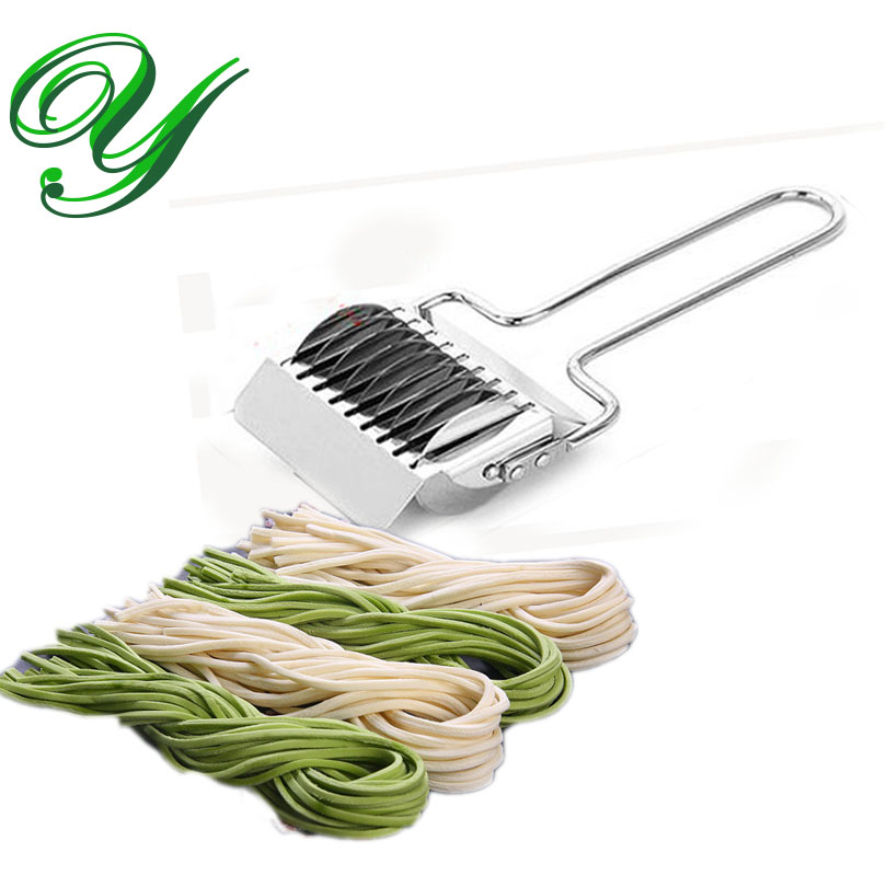 Fideos rodillo del enrejado tallarines del acero inoxidable del cortador del rodillo del enrejado de la pasta corta pastas fabricante de espaguetis Manual para la cocina que cocina Herramientas