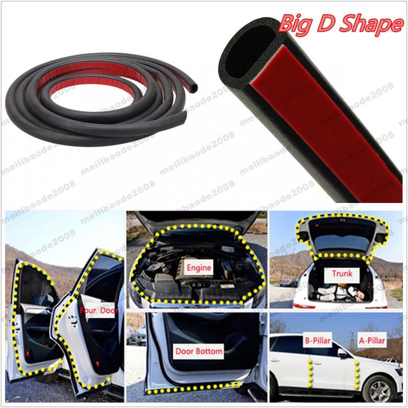 16ft 5M U Shape Rubber Seal Car Door Protezioni del bordo Trim Protector Strip con nastro biadesivo interno Bianca