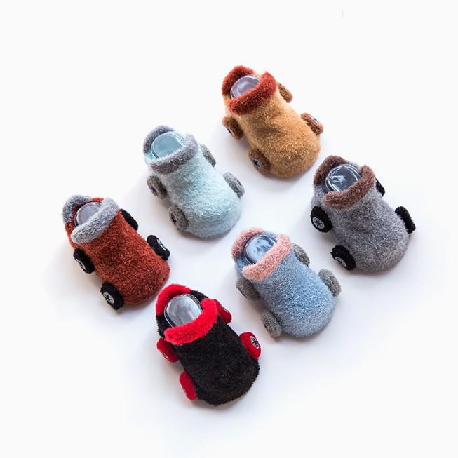 Lefu Baby Slipper Socks Toddler Kids antideslizante piso zapatos Botas Calcetines Algod/ón Reci/én nacido Infantil Chicas Ni/ños Dibujos animados Animal Primavera Oto/ño Invierno (4 pares)