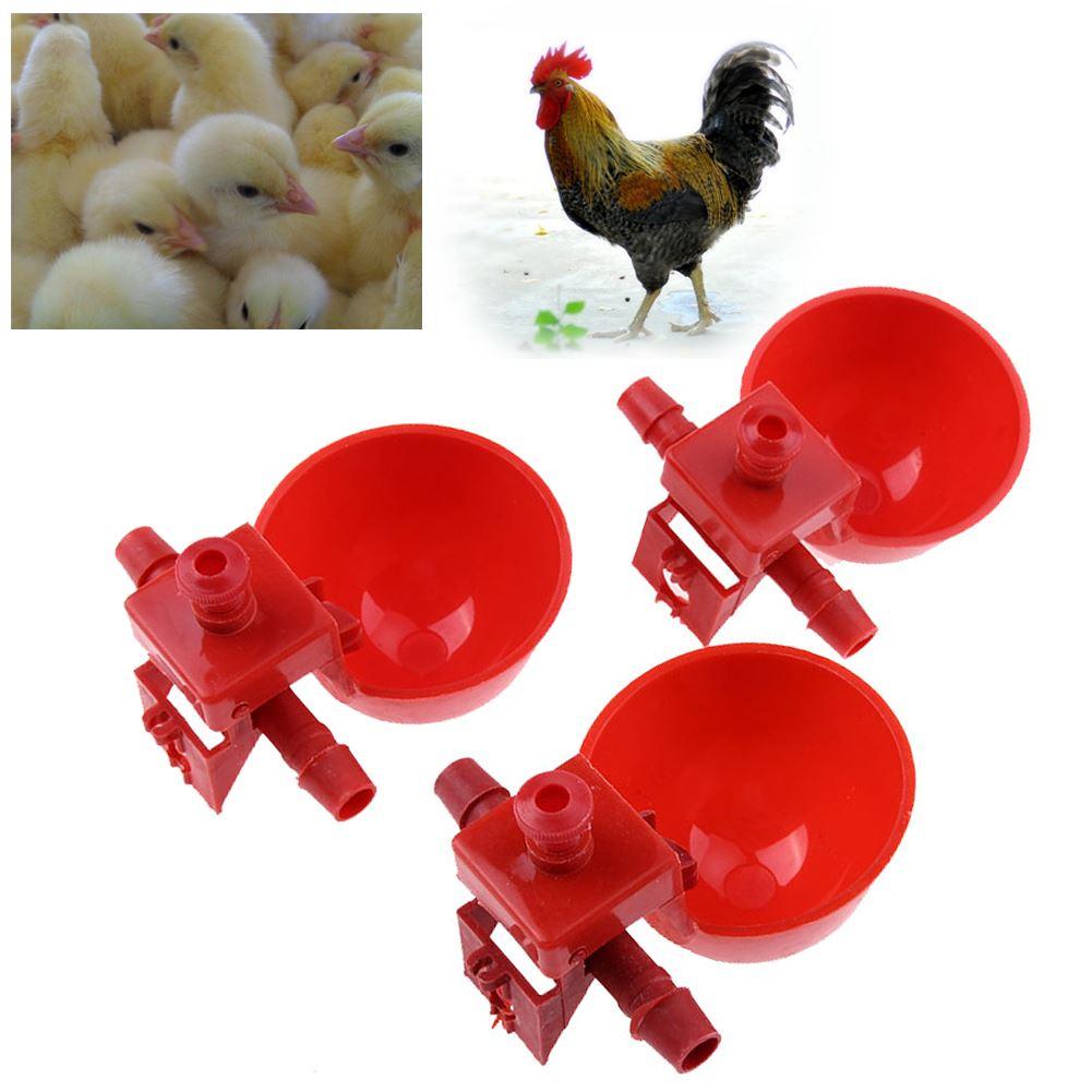 1.5kg Red Plastic Feeder Baby Chicken Chicks Hen Poultry Feeder Lid/&Handle PX