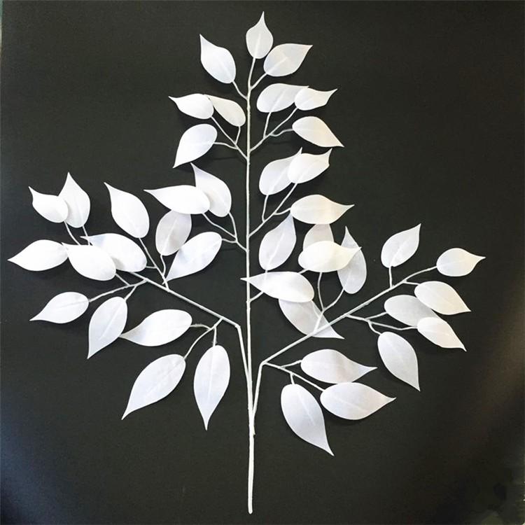 wedding decoration white leaves