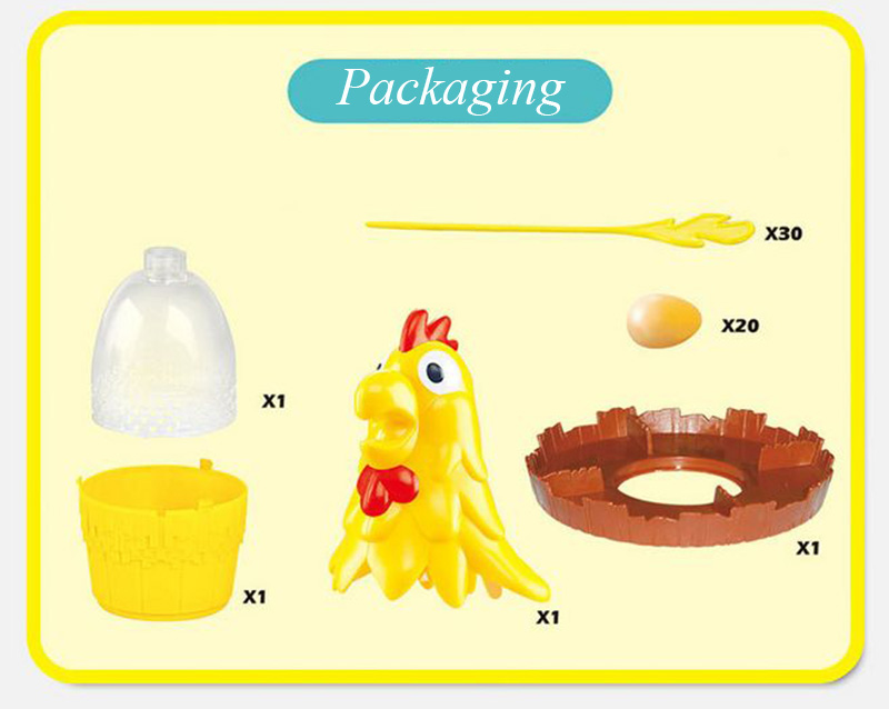 Chicken Don\'t Drop Egg Game Child Exciting Fun Pull Out Feathers Toy Gift Family Educational Parent-Child Interactive Game Toys (5)