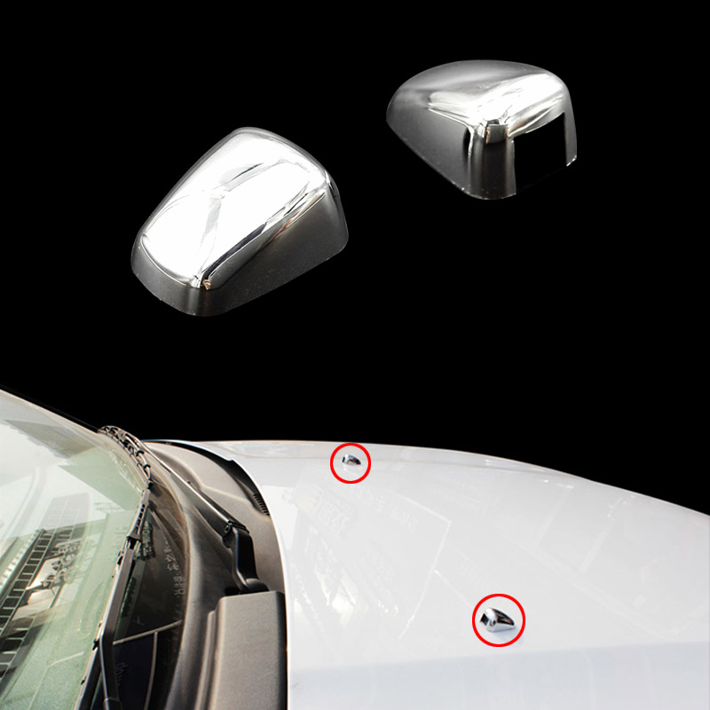 garniture chromée ABS 4 x gicleur de jet d/'eau de lave-glace WindShield