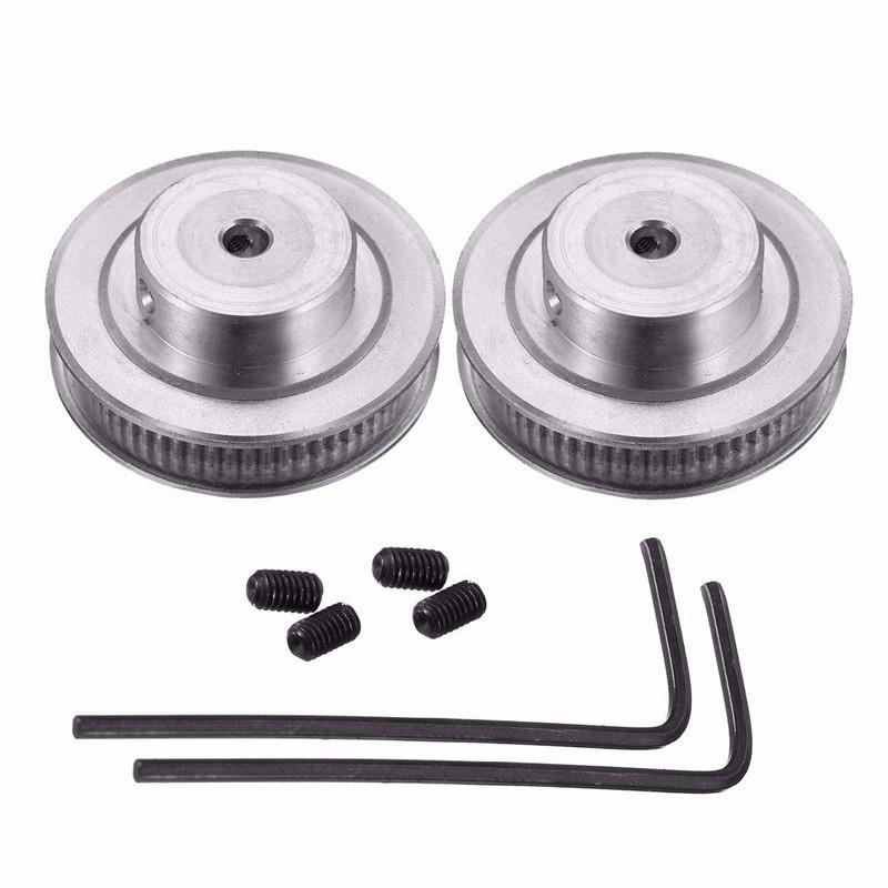 2Pcs gt2 timing pulley 20t 5//8mm 2m belt 6mm width kit for 3d printer reprap Lo