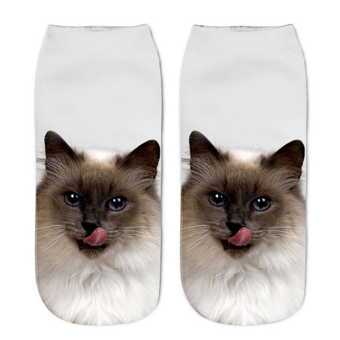 Popular Divertido Unisex Calcetines Lindos Calcetines Cortos Calcetines Para Mujer Tobillera Impresa 3D Para Perros Casual
