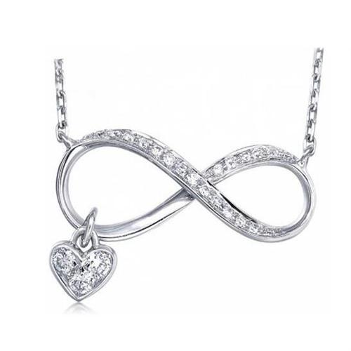 Espumosos Cristal Diamante Moda Cruz W Cadena Collar Colgante Para Mujer Dama