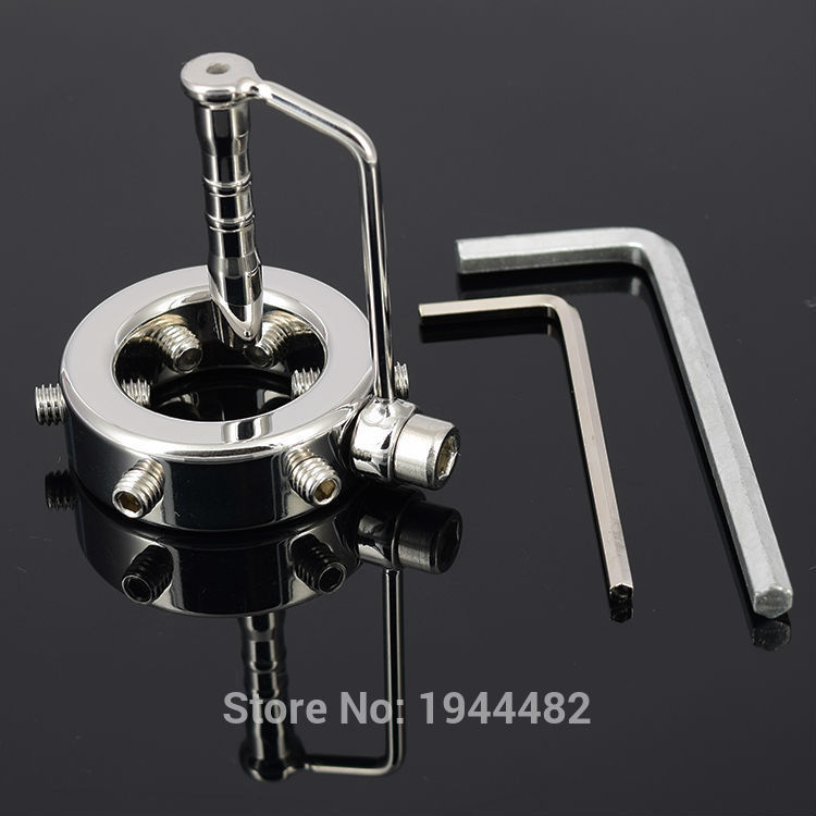 Stainless Steel Penis Bondage Gear With Urethral Sound Metal Urethra Dilator BDSM Sex Toy Restraint Cock Ring Chastity Device