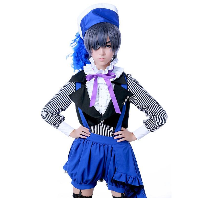 Kukucos Anime Black Butler Ciel Phantomhive Cosplay Costume Party Lolita Dress
