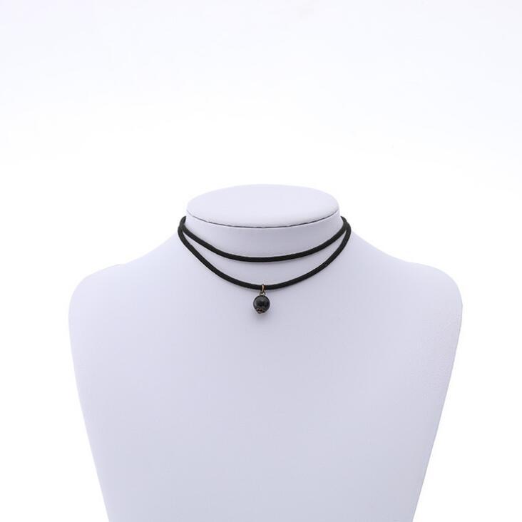 Vente chaude velours gothique réglable Tattoo simple Coeur Collier Collier Tour de cou
