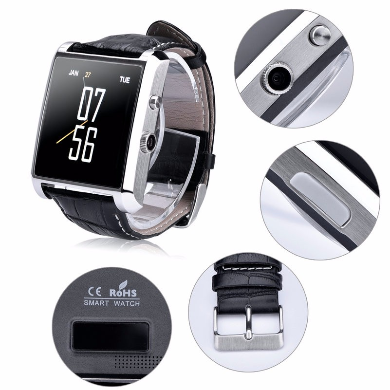 Smart Watch DM08 Bluetooth Waterproof Camera Wristwatch for IOS &Android for iphone 7S 6S samsung S7 huawei P9 Mate8 Smart phone (3)