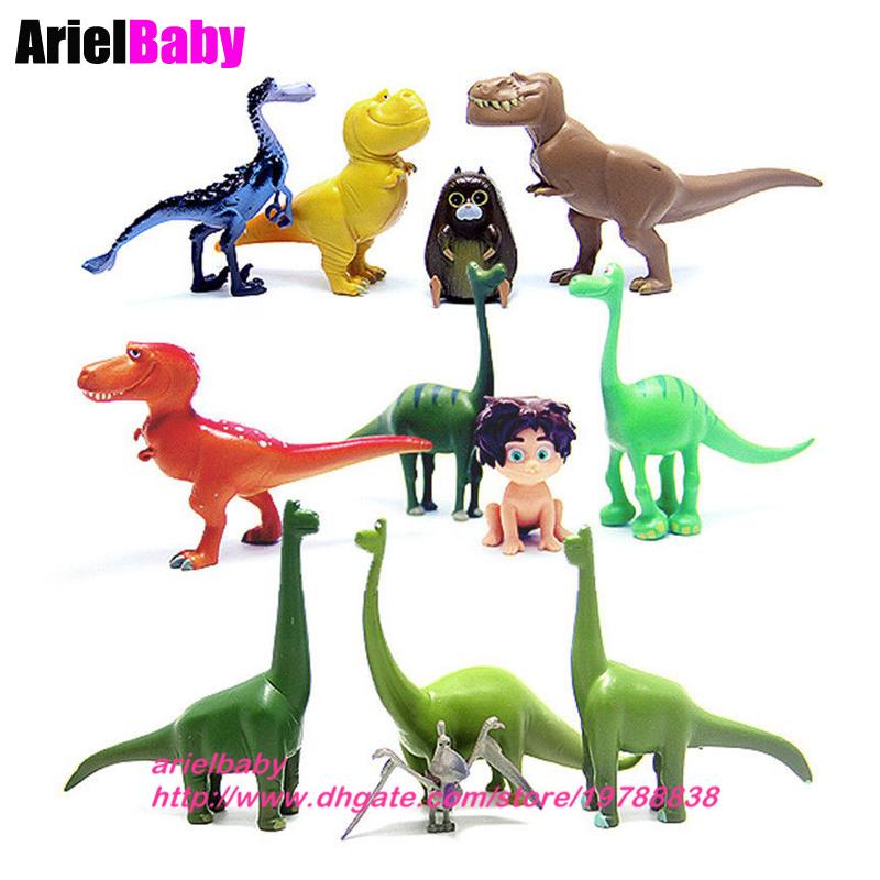 12pcs The Good Dinosaur Cake topper figure Toys Arlo Spot Budda Ramsey Kids Toy