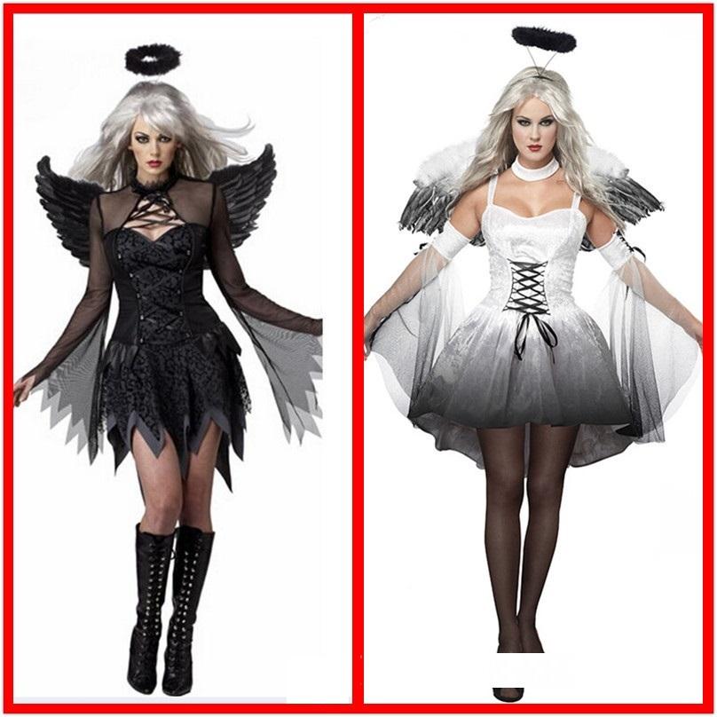 Stylish Feather Wings Devil Fallen Angel Fairy Costume Fancy Dress Halloween Hot