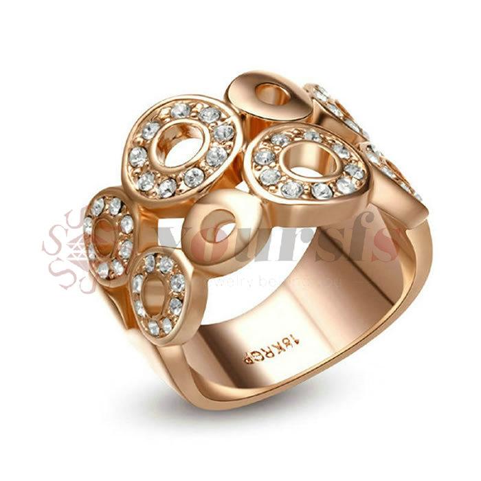 Dedo anular anillo señores anillo Anillo de mujer goldring sello anillo de acero inoxidable 56 60 62 64
