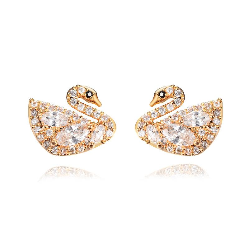 Stud Earrings For Women Fashion Gold Earring Animal Cute Cartoon ...