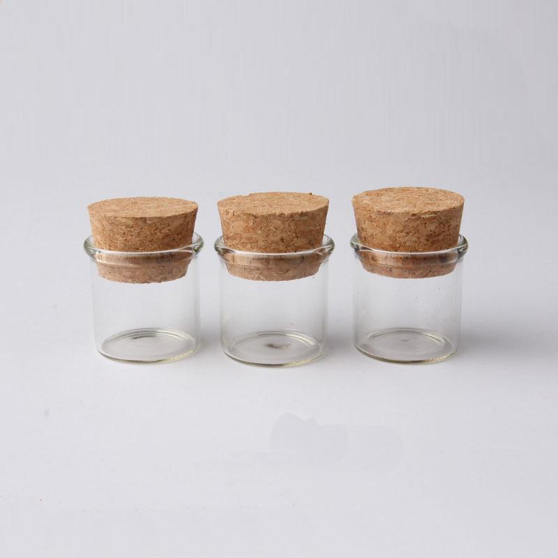 13ml-18x80x12.5mm TAI DIAN Mini Empty Glass Bottles with Wood Stopper 13ml Small Glass Jars Vial 100pcs//lot