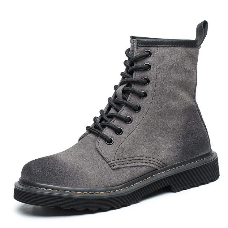 Nouveau Homme Noir Marron Beige Sécurité Travail Chaussures Bottes Lacets acier toe cap cuir