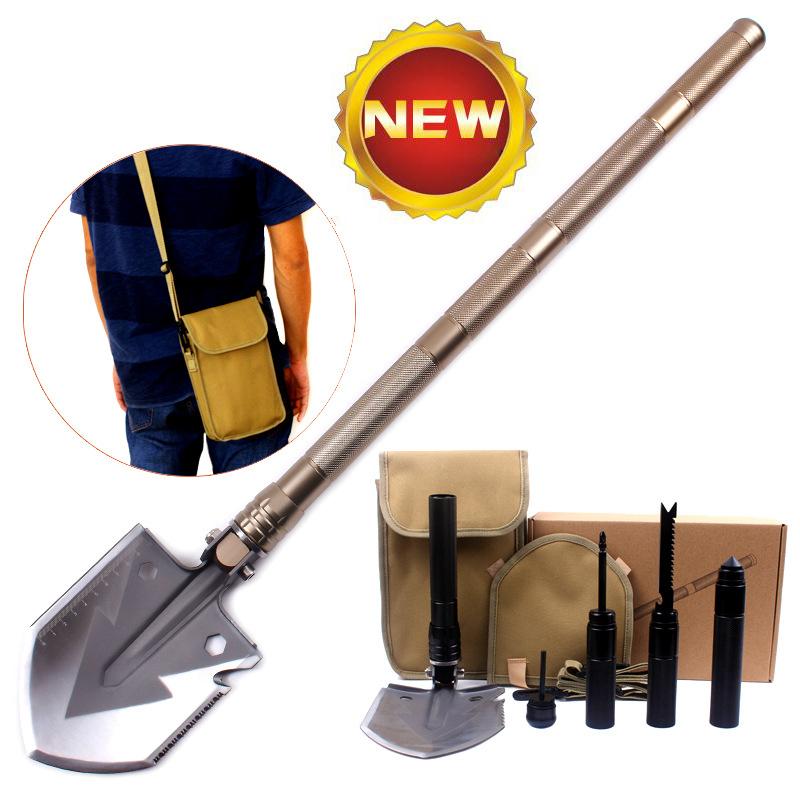 UK Military Folding Shovel Multifunctional Mini Foldable Outdoor Camping Hiking