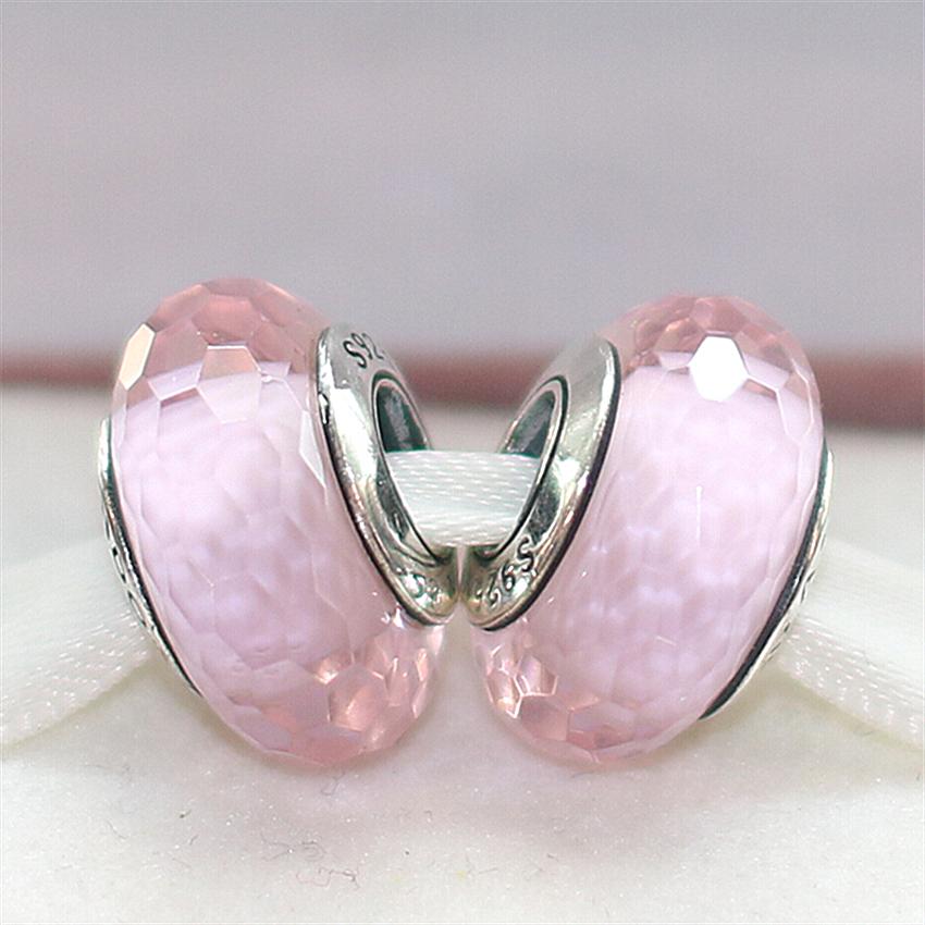 Cuentas de vidrio brillante rosa 6 mm 130 unidades bala joyas bricolaje perlas v263