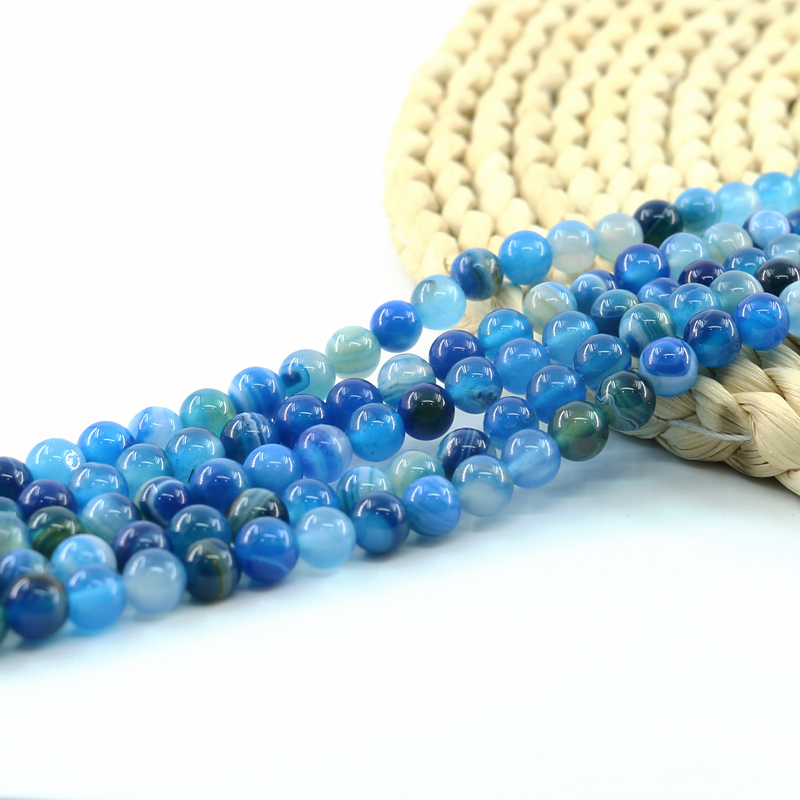 1 filamento de 8MM Azul Goldstone Piedras Preciosas Perlas//fabricación de joyas