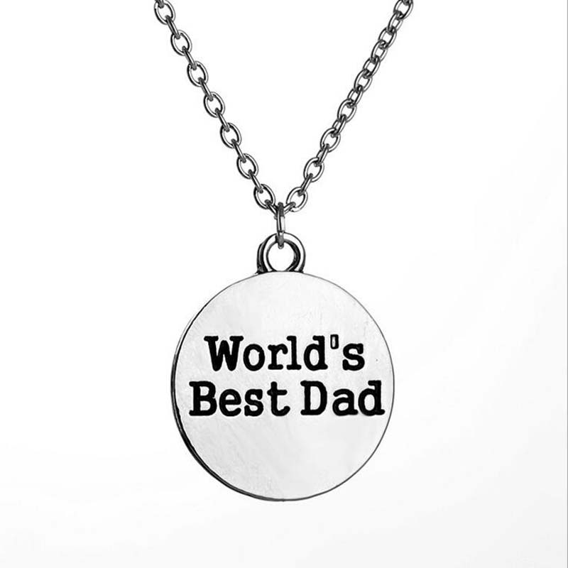 Royal Lion Silver Heart Necklace Best Dad Daddy Father Ever