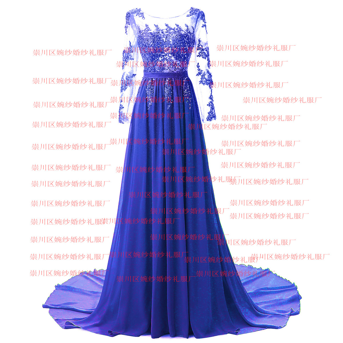 2017 New Pattern Wedding formal Dress Full High Evening Long Sleeve Hollow 48 hour shipping Cocktail Party Prom
